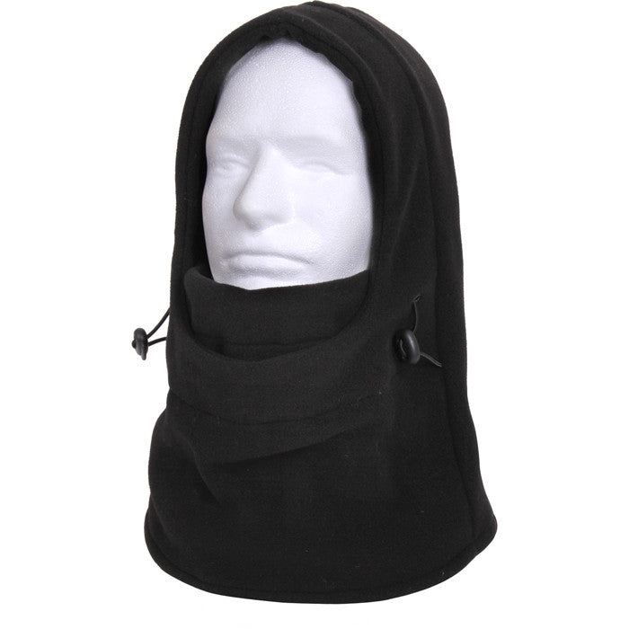 Black - 3 In 1 Adjustable Double Layer Fleece Balaclava