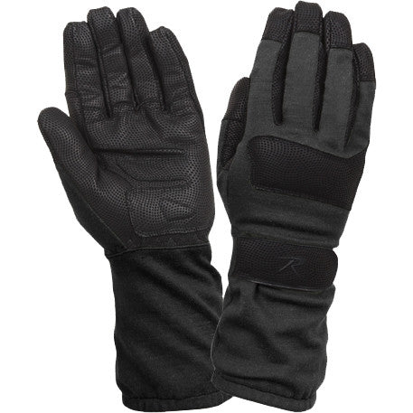 Black - Military Fire Resistant Griplast Gloves