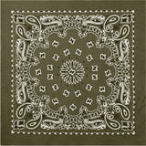 Olive Drab - Trainmen Bandana 22 in. x 22 in.