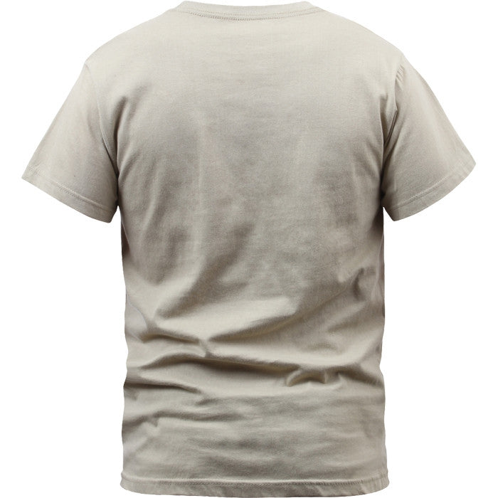 Desert Tan - Military GI Type ACU Short Sleeve T-Shirt - 100% Cotton
