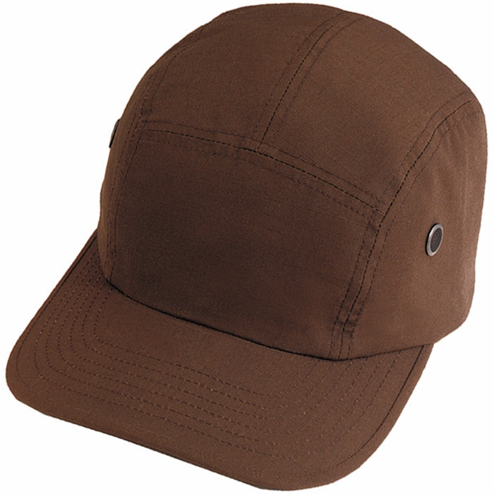 Brown - Military Street Urban Cap - Cotton Ripstop