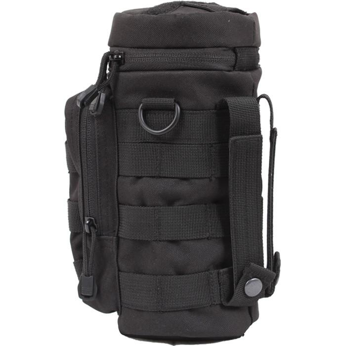 Black - MOLLE Compatible Water Bottle Pouch