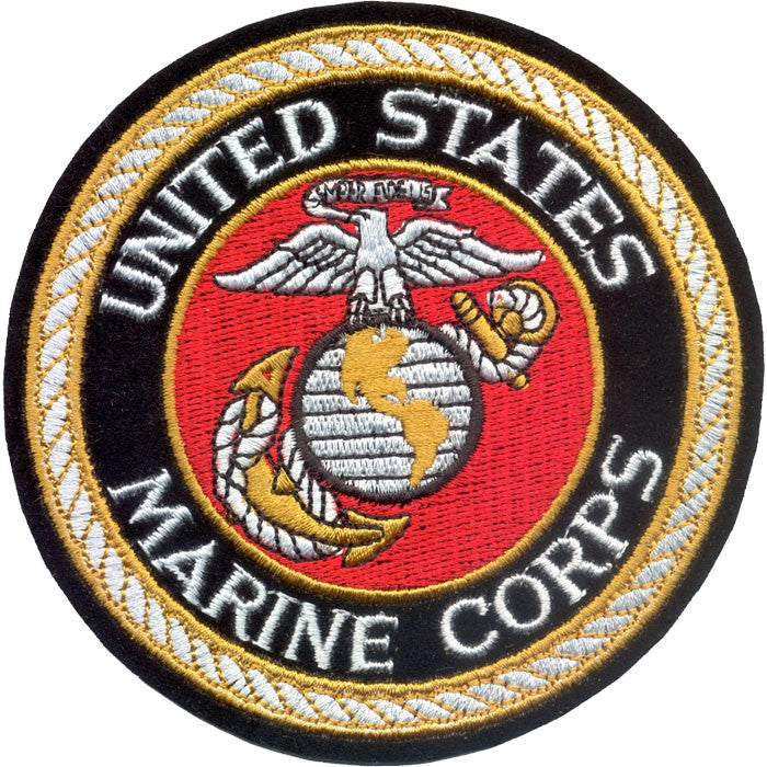 Deluxe Us Marine Corps Sew On Patch With Usmc Emblem 4 In Army
