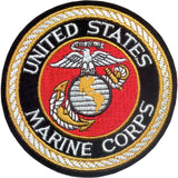 Deluxe US MARINE CORPS Sew On Patch with USMC Emblem 4 in.