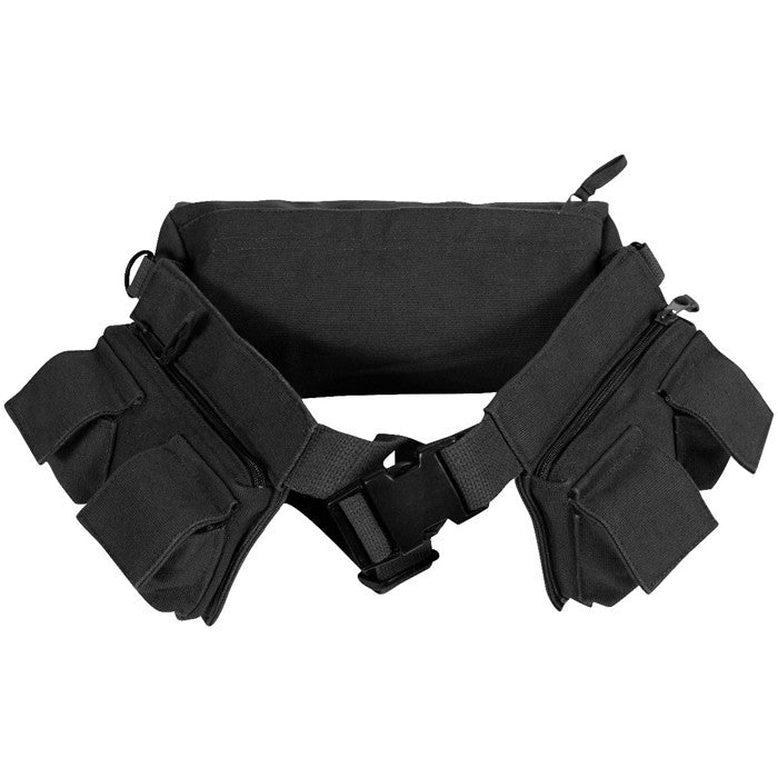 Black - Army 7-Pocket Fanny Pack - Cotton Canvas