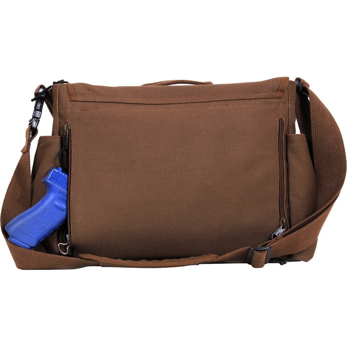 Earth Brown - Concealed Carry Messenger Bag