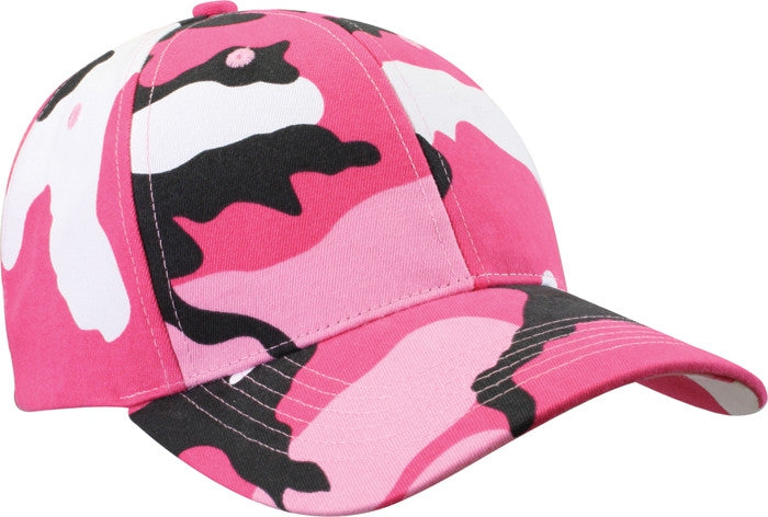 Pink Camouflage - Military Low Profile Adjustabe Baseball Cap