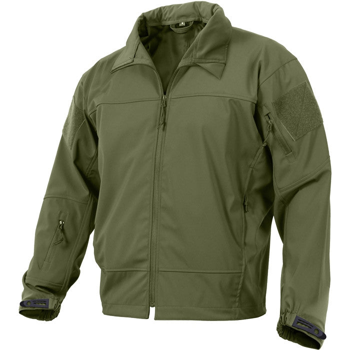 Olive Drab - Tactical Lightweight Covert Operations Soft Shell Jacket
