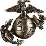 USMC Globe and Anchor Pin-On Insignia USA Made Bronze