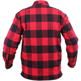 Red Black Buffalo Plaid - Sherpa Lined Flannel Jacket