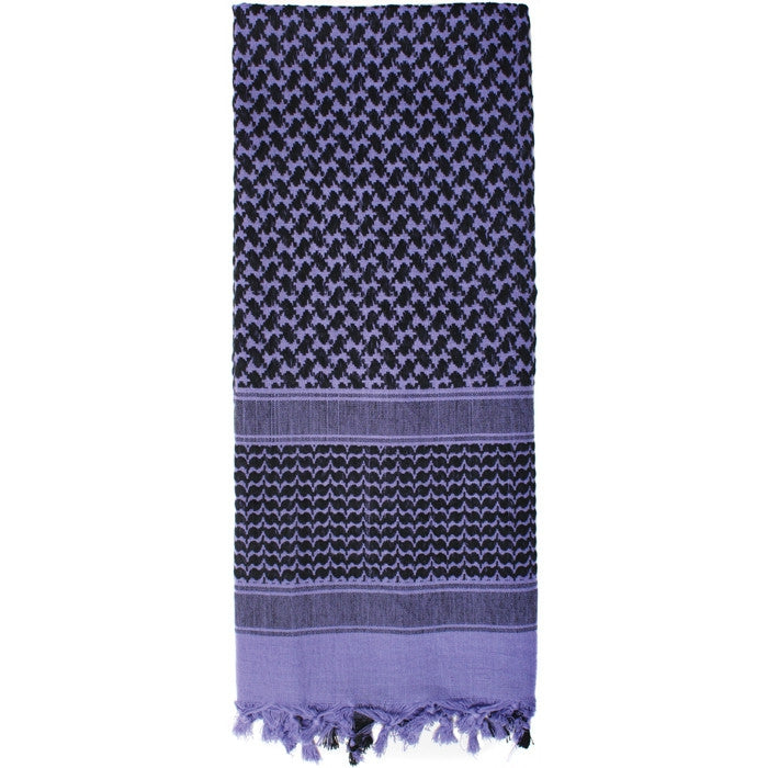 Purple   Black - Shemagh Tactical Desert Scarf