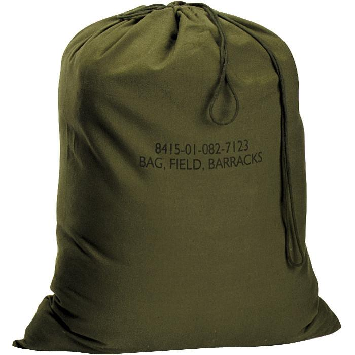 Olive Drab - Military GI Style Standard Barracks Laundry Bag - Canvas