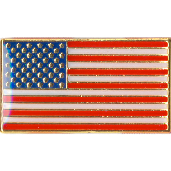Rectangular American US Flag Pin