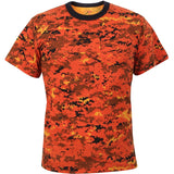 Digital Orange Camouflage - Military T-Shirt