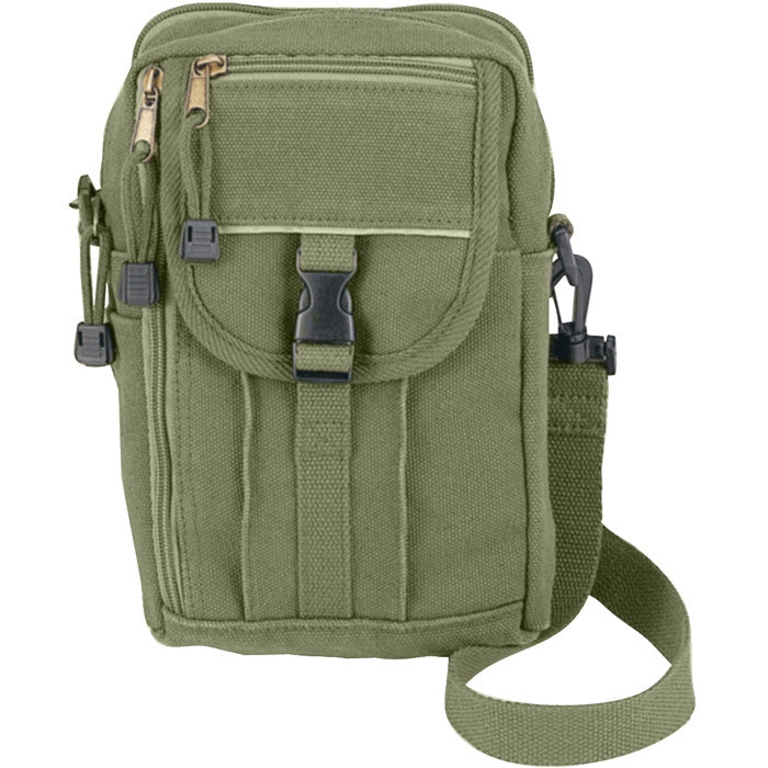 Olive Drab - Classic Military Dark Passport Travel Shoulder Pouch