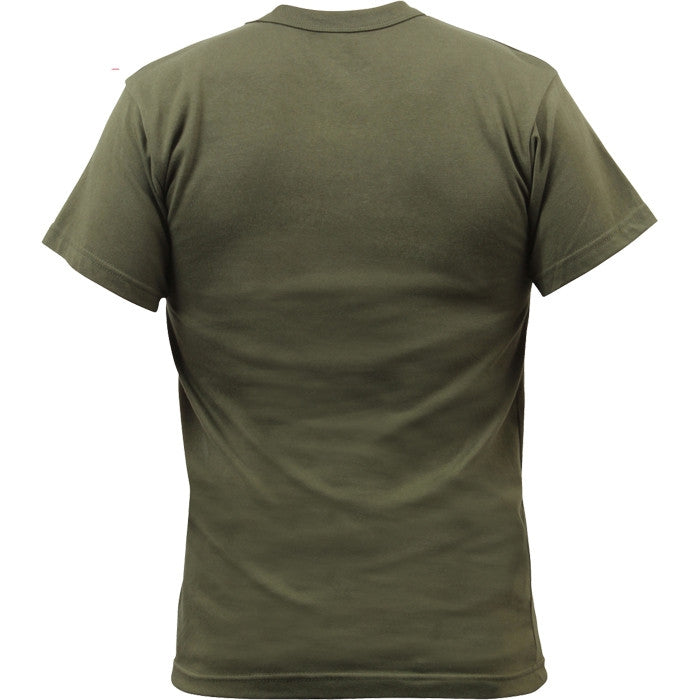 Olive Drab - Military GI Type Short Sleeve T-Shirt - 100% Cotton