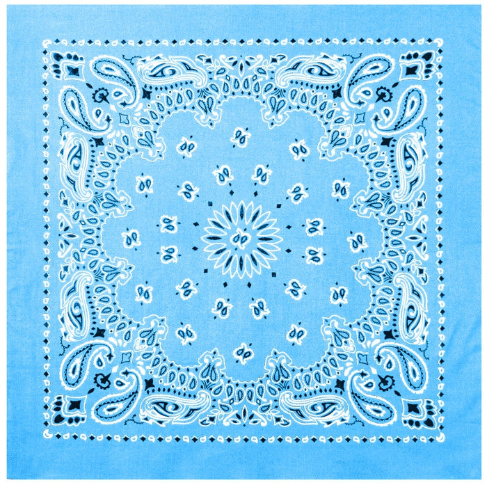 Light Blue - Trainmen Jumbo Bandana 27 in. x 27 in.