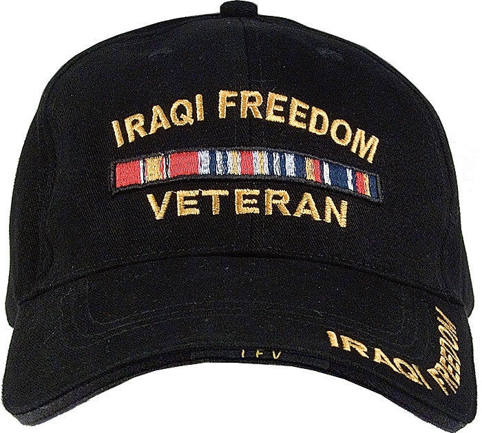 Black - IRAQI FREEDOM VETERAN Low Profile Deluxe Adjustable Cap