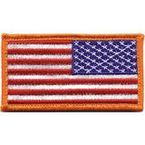 Red White Blue - Reversed US Flag Patch with Hook and Loop Closure