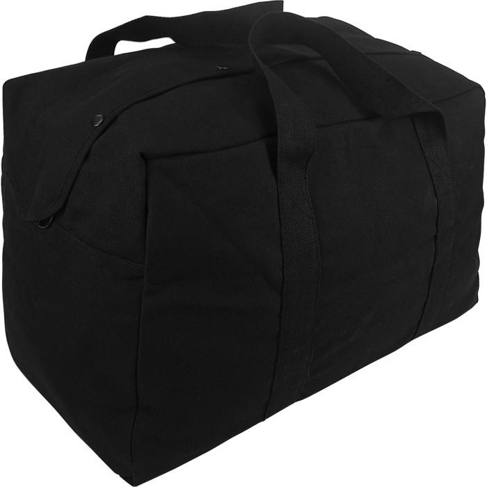 Black - Military Parachute Traveling Cargo Bag