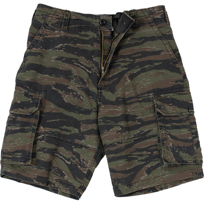 Tiger Stripe Camouflage - Military Vintage Paratrooper Cargo Shorts