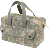 ACU Digital Camouflage - Military GI Style Mechanics Tool Bag with Brass Zipper - Cotton Canvas