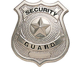 Silver - SECURITY GUARD Pin-On Badge