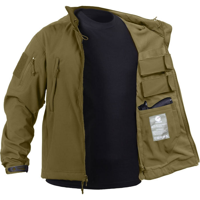 Coyote Brown - Concealed Carry Soft Shell Jacket