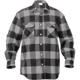 Grey   Black - Buffalo Plaid Extra Heavyweight Brawny Flannel Shirt
