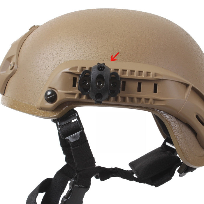 Black - Base Jump Airsoft Helmet 4 Piece Accessory Pack