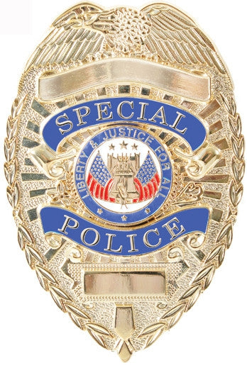 Deluxe Gold - Public Safety SPECIAL POLICE Badge