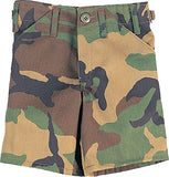 Woodland Camouflage - Kids Military BDU Shorts