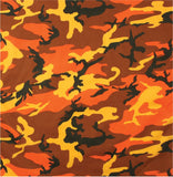 Savage Orange Camouflage - Military Bandana 22 in. x 22 in.