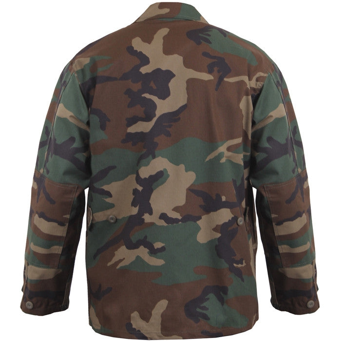 Woodland Camouflage - Military BDU Shirt - Polyester Cotton Twill
