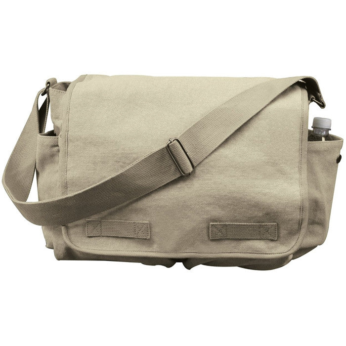 Khaki - Vintage Messenger Bag