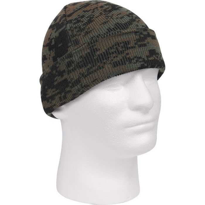 Digital Woodland Camouflage - Military Deluxe Watch Cap - Acrylic
