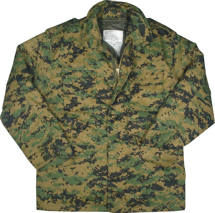 Digital Woodland Camouflage - Marines M-65 Field Jacket - Cotton Polyester