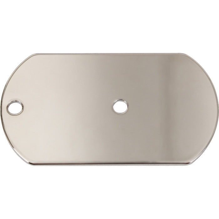 Silver - Military Dog Tag Signal Mirror