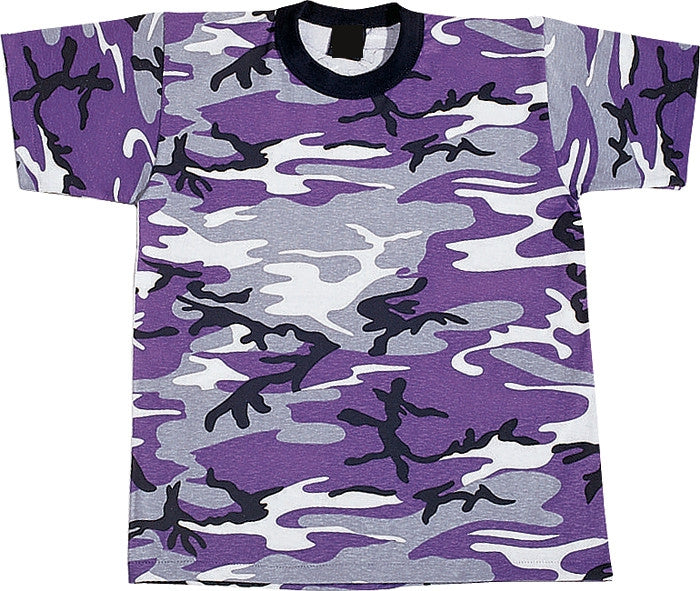 Ultra Violet Camouflage - Kids Military T-Shirt
