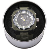 Olive Drab - X-Large Military Style Analog & Digital Display Watch