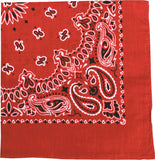 Red - Trainmen Jumbo Bandana 27 in. x 27 in.