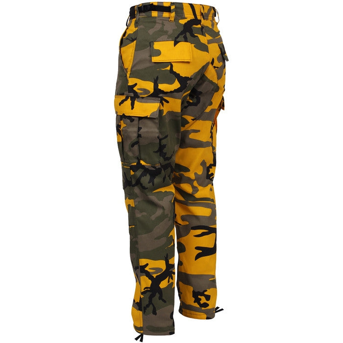 Stinger Yellow Camouflage - Military BDU Pants - Polyester Cotton Twill