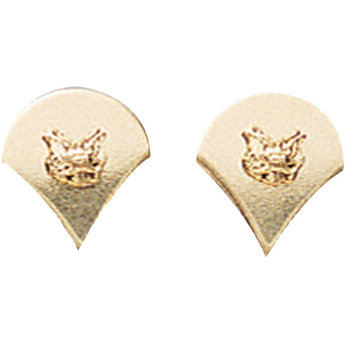 Polished - Military Spec-4 Pin-On Insignia Pair SPEC