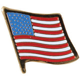 Stylish US Flag Pin-On Insignia