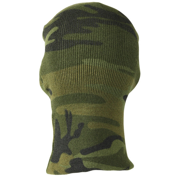 Woodland Camouflage - Deluxe 3-Hole Face Mask