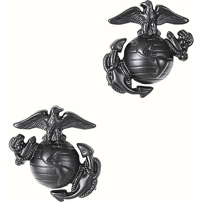 Subdued - USMC Globe and Anchor Pin-On Insignia Pair