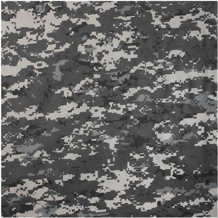 Subdued Urban Digital Camouflage - Military Jumbo Bandana 27 in. x 27 in.