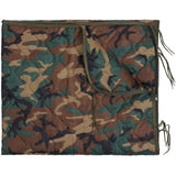 Woodland Camouflage - GI Type Ripstop Poncho Liner With Zipper