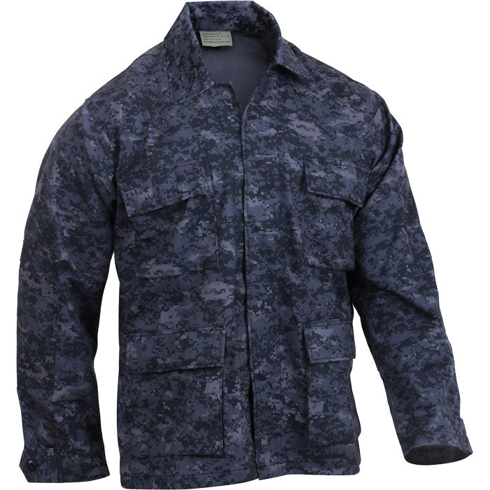 Digital Midnight Camouflage - Military BDU Shirt (Cotton/Polyester)