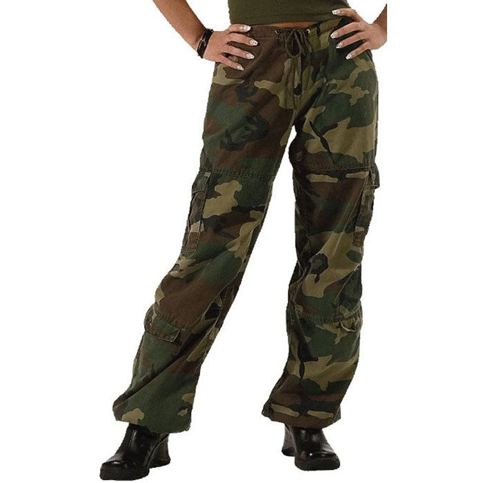 Woodland Camouflage - Womens Vintage Paratrooper Fatigues